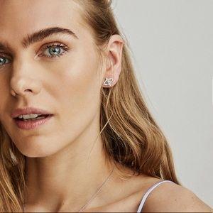 KENDRA SCOTT Crosby Earrings in Rose Gold NWT